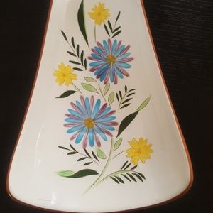 Vintage Stangl pottery bread dish country garden s
